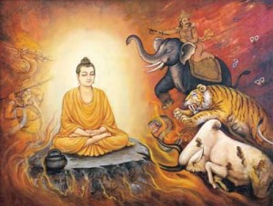 Budhha's Flame of love enlightens without burning
